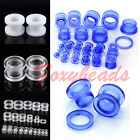 2pcs Acrylic Illusion Double Flare Ear Tunnels Plugs Earring Expander Piercing