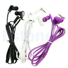 In-Ear 3.5mm Earbud Headset Earphone Headphone Flat Cable For iPhone Samsung