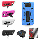 For Motorola Droid Ultra XT1080 Colorful Hybrid Kickstand Armor Accessory Case