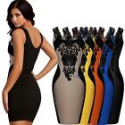 Women Celeb Style Floral Lace Contrast Splicing Cocktail Party Bodycon Dresses