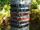 "Handmade Double Ring Leather Belt Men Women 1 1/2"" Inch Wide Black Brown YOUR SZ"