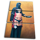 Banksy Painting Burka Sexy Apron TREBLE CANVAS WALL ART Picture Print VA