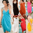 Womens Summer Swimwear Bikini Cover Up Swim Bathing Suit Sling Dress Beachwear