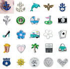 5PCS 24 Style Floating Charms For Diy Living Memory Lockets Necklace Beacelet