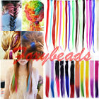 "15"" Wholesale Straight Highlight Clip in on Hair Extensions Synthetic 11 Colors"