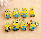 Pack of 4 Despicable Me Minion Funny Wooden Badges Pins Kids Toy Party Favours