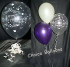Wedding Anniversary Balloons - 10 Table Decorations - Hearts Design All Colours