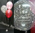 Engagement Balloons - 10 Table Decorations Flowers Design - Many Colours