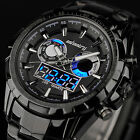 Sport Water Quartz Mens Army Luxury Digital Alarm Date Day Wrist Watch AVIATOR