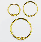 Gold Plated Fake Hoop Ring Lip Nose Ear - Choose 1 or 2  in  Size 7mm, 9mm