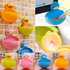 Plastic Duck Suction Cup Bathroom Accessory Shower Soap Toothbrush Dish Holder