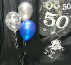50th Birthday Balloons - 10 Table Decorations - Many Colours - DIY Kit