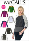 McCall's 6992 Sewing Pattern to MAKE Pullover Sweatshirt Style Tops w/Variations