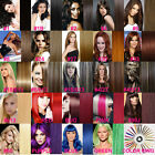 "8pcs 16""-24"" Clip-in Remy Real Human Hair Extensions Straight Full Head 21 Color"