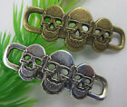 lovely retro style  silver bronze skull alloy bracelet charms Connectors