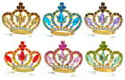 LOVELY Rhinestone Crystal Gifts Jewelry Royal Gold Tone Crown Brooch Pin 6 Color