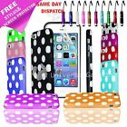 POLKA DOT GEL SILICONE RUBBER CASE COVER IPHONE 5C