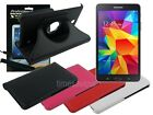 Swivel Leather Case+Screen Protector+Cleaner Pad for Samsung Galaxy Tab 4 7.0