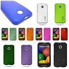 For Motorola Moto E - Slim Rubberized Hard Snap On Shell Phone Cover Case