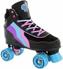 SFR Rio Roller Boogie Kids/Adult Quad Roller Skates - Black/Blue/Purple Size