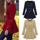 New Hot Fashion Women Slim Wool Trench Warm Coat Double Breasted Jacket Outwear