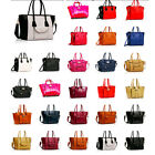 Ladies Designer Celebrity Smile Tote Bag Shoulder Satchel Handbag Croc skim blog