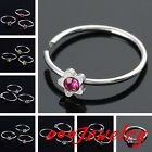 10pc Stainless Steel Fake Cheater Nose Ring Lip Star Crystal Stud No Piercing