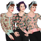 Banned Womens Vintage Floral Rockabilly 40S 50S Cardigan Knitwear Top