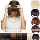 1x Women Clip On Clip In Front Bangs Fringe Hair Straight Extension Hot