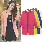 Vogue Women Knitted Cardigan Outerwear Casual Long Loose Sweater Coat Tops