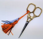 French Embroidery Scissor -  Gold Sajou Eiffel Tower - Tassel & Charm Colors
