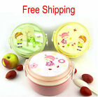 Lovely Pattern Plastic Lunch Box Bento Mess Tin Set Chopsticks+Spoon+Dishcloth