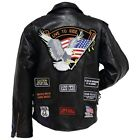 Genuine Buffalo Leather Motorcycle Jacket Coat Bike 2XX