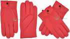 Womens Soft Leather Gloves Hot Pink Colour Ladies Size Small Medium Large - A2