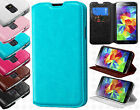 Samsung Galaxy S5 Premium Wallet Case Pouch Flap STAND Cover +Screen Protector