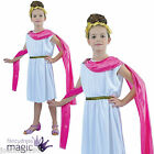 GIRLS CHILDS ROME ROMAN GREEK GODDESS TOGA ATHENA NYMPH  FANCY DRESS COSTUME