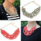 Elegant Chunky Pendant Seed Beads Wrap Choker Golden Chain Necklace Women