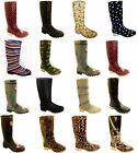 LADIES GIRLS FUNKY WELLIES BOOTS SIZE 1 3 4 5 6 6.5 7 8 READING LEEDS V FESTIVAL