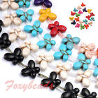 1 Strand Howlite Turquoise 3D Butterfly Charms Loose Beads Findings Jewelry DIY