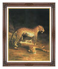 Two Leopards by Jacques Laurent Agasse Painting Repro Framed Art Print on Canvas