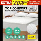 Egg Crate Mattress Topper 5 CM Underlay Protector QUEEN DOUBLE KING SINGLE
