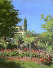 Garden in Bloom Claude Monet Painting Reproduction Vintage Canvas Fine Art Print
