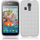 For Kyocera Hydro Life C6530 TPU CANDY Gel Flexi Case Cover Plaid + Screen Guard