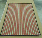 NATURAL STRIPED 100% WOOL AREA RUG 5X8
