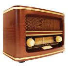 GPO Winchester Retro Old Fashioned Vintage Style 1950s MW/FM Radio in Wood Case