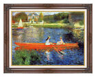 Framed Wall Art Print The Skiff Boating by Pierre Auguste Renoir Painting Repro