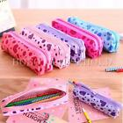 Plush Love Heart Printing Stationery Holder Pen Pencil Case Cosmetic Makeup Bag