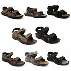 New Mens Nubuck Leather Velcro Strap Sports Walking Open Toe Sandals Size 6-12