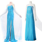 Купить Blue Sexy Lady Disney Frozen Cosplay Adult Women Tulle Elsa Fancy Dress S-XXXL  с доставкой по россии и снг