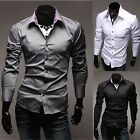 Mens Fashion Designer Stylish Luxury Slim Fit Casual Dress Shirts C5917